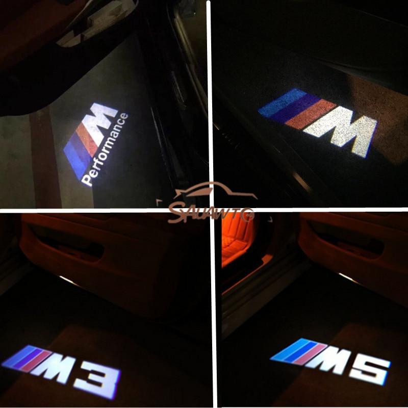 LED Car Door Logo Light Laser Projector Welcome Light For BMW E90 E60 F30 F10 F20 E87 X5 E70 E92 M3 M5 M Performance X1 X3 E82