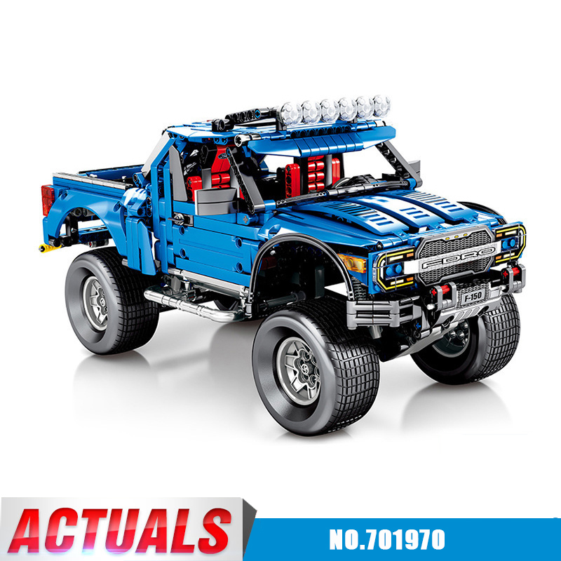 Diy New Technic Series the F-150 Raptor Pickup model building blocks set Compatible with Legoingly Classic Toys for Kids GiftDiy New Technic Series the F-150 Raptor Pickup model building blocks set Compatible with Legoingly Classic Toys for Kids Gift