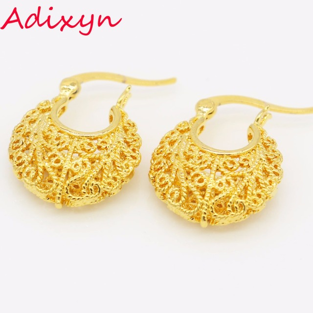 5160df57c Small Size Ethiopian Gold Earrings Gold Color African/India Women Wedding  Earringn Jewelry for Girls Gifts