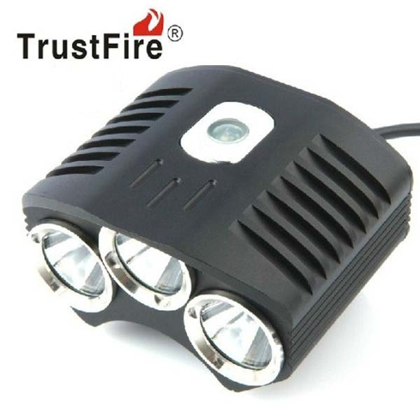 TrustFire TR-D009 3xT6 2100LM 4-Mode Memory LED Bicycle Light Set sl 8001 900lm 4 mode white bicycle light