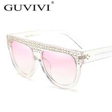 f945a049c840a Mulher Topo Plano Espelho Óculos de Sol 2017 Marca desinger Gato olho de  Cristal óculos de Sol oculos de sol Óculos De Sol mulhe.