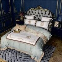 IvaRose Luxury Bedding Set 4 Pieces green pink bed Sheet set Duvet Cover set Pillowcase Home Wedding Decoration King Queen size