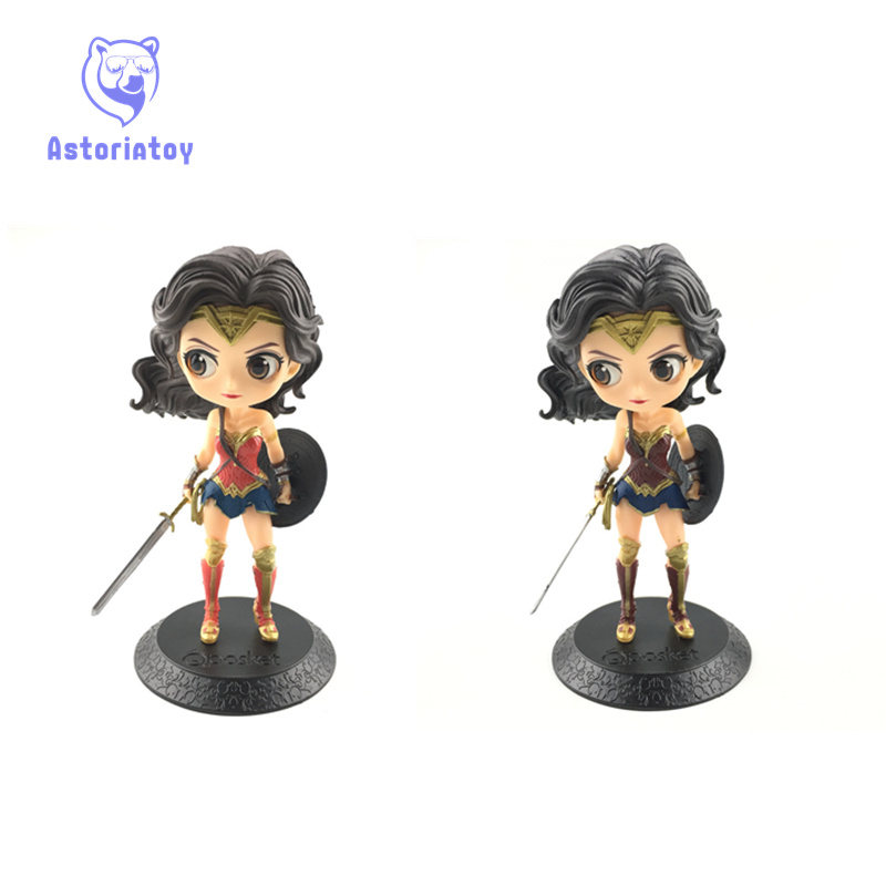 14 см Wonder Woman фигурку игрушки куклы Q Posket Коллекция Модель Brinquedos Figurals подарок
