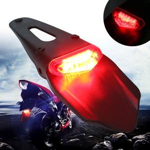 Image 1 - لهوندا لكاواساكي 1 قطعة 12V 0.3W دراجة نارية الحاجز الخلفي LED إيقاف الضوء الأحمر الذيل مصباح للماء لوحة إلكترونية