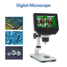 цены G600 Digital Portable 1-600X 3.6MP Microscope Continuous Magnifier with 4.3inch HD LCD Display for PCB motherboard repair 1080P