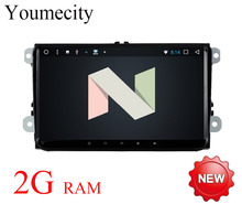 Youmecity 2016 Android 7.1 Del Coche dvd Gps para VW Tiguan Polo Golf 5 6 Passat CC Jetta Transporter T5 Caramelo Radio wifi 3G/4G