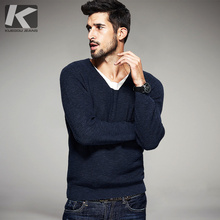 2017 Spring Mens Fashion Sweaters False Two Pieces Spliced Knitted Brand Clothing Man's Slim Knitwear Male Knitting Pullovers