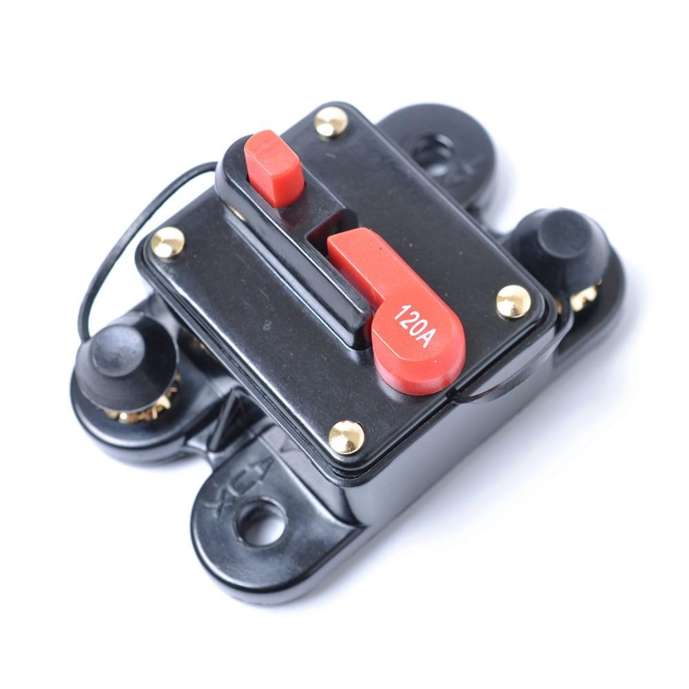 70A 120A 160A 180A 200A AMP Circuit Disjoncteur Voiture Marine bateau Stéréo Audio Inline Remplacer Boîte à Fusibles 12 V-24 V DC Manuel Override