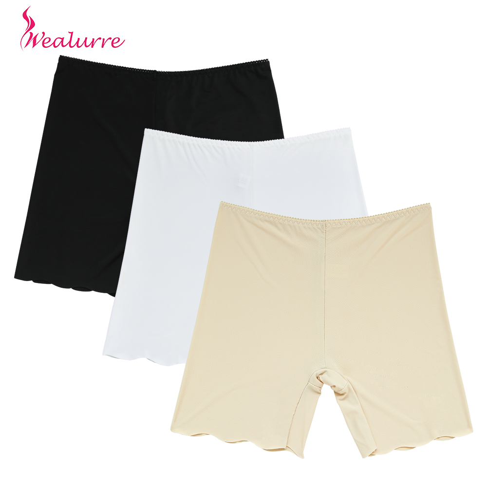 Wealurre Underwear Women Cotton Safety Pants Shorts Boxer Shorts Seamless Silk Ladies Summer Panties UltraThin Mid-Rise Boyshort