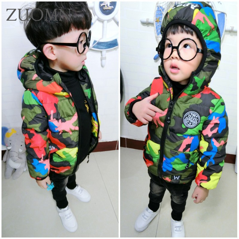 Winter girls cotton jacket clothes children quilted jacket children swear baby boys camouflage jackets babyGirls clothing YL304