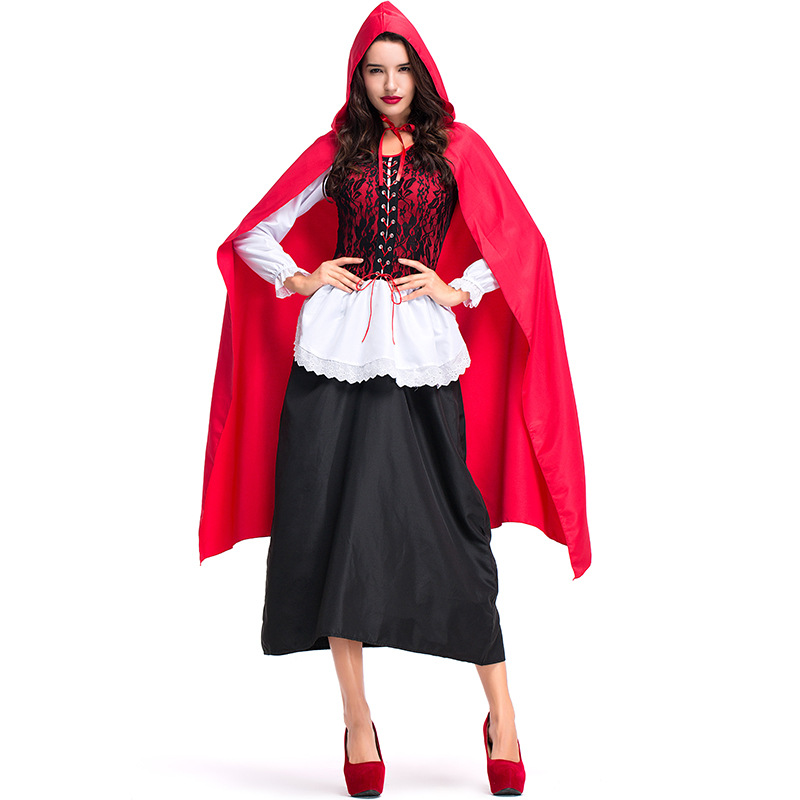 Adult Woman Sexy Little Red Riding Hood Storybook Halloween Costume