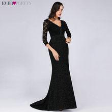 1cc8c38841 Czarna matka panny młodej suknie długie 2019 kiedykolwiek ładne kobiety  eleganckie 3 4 rękaw koronki