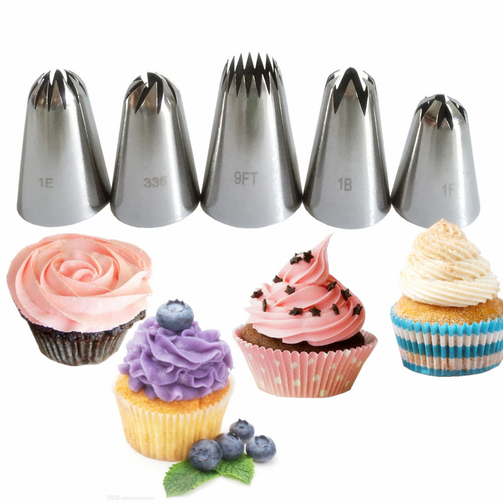 Cake Decorating Piping Icing Tubes//Nozzles 000,00,0,1,2,3,4,5,6,7,8,9,10,11,12
