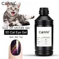 CANNI 1000 г оптом сырье soak off Новый 6 цветов Металл Хамелеон цвета изменить цвет магнитный 3D кошачий глаз гель лак для ногтей