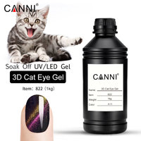 CANNI 1000 г сырье насыпью замочить Новый 6 цветов Металл Хамелеон цвета изменить цвет магнитный 3D кошачий глаз гель лак для ногтей гель