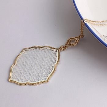 New Fashion Trendy Jewelry Gold Plating Cut Out Filigree Moroccan Love Necklace Bohemian Long Chain Necklace For Women 1