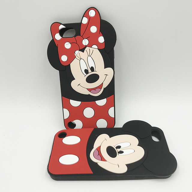 buy online 389ff 996bb US $3.98 |For ipod touch 6 case Mickey Minnie Mouse Case 3D Cartoon cute  Case For Apple iPod Touch 5 5th 6 6th Cover Bowknot Soft Silicone-in Fitted  ...