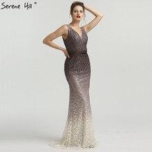 SERENE HILL 2019 V-Neck Mermaid Sleeveless Evening Dresses