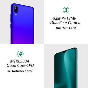 """Image 3 - Blackview A60 4080mAh Smartphone Android 8.1 13MP arrière caméra 16GB téléphone portable MT6580 Quad core 6.1 """"Waterdrop écran téléphone portable"""