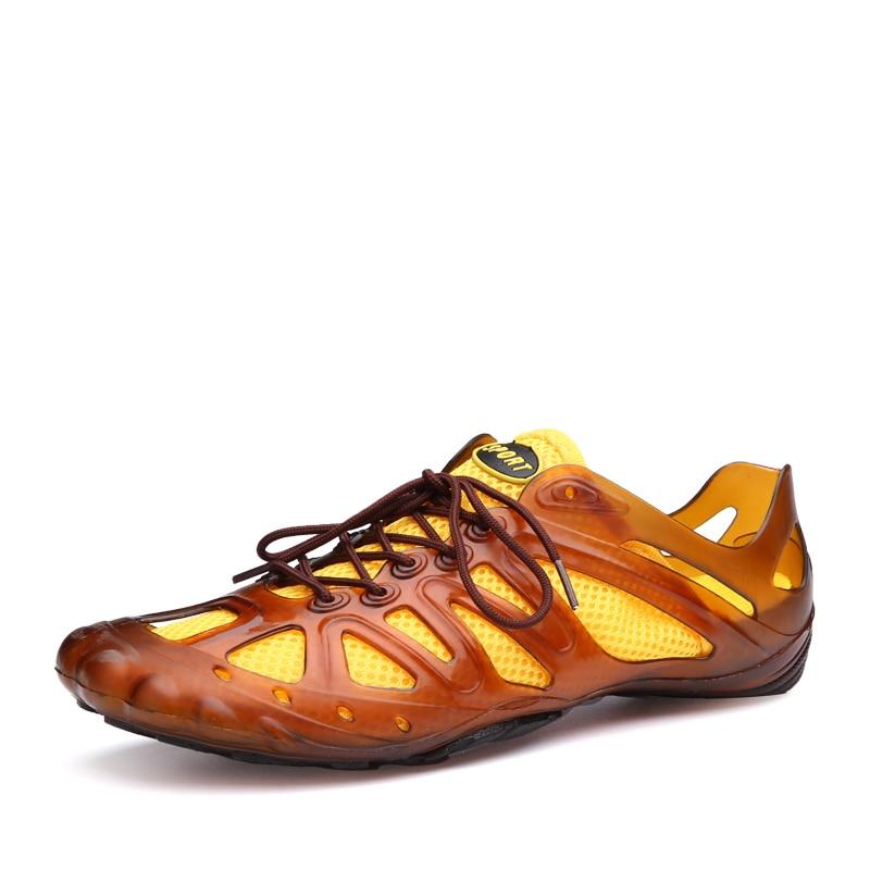 Moda Agradável Homens Sandálias Praia Air Chinelos Chaussure verde Malha Dual Verão Flat Sapatos Preto Shoes Casuais amarelo De Nova Homme dt15w5