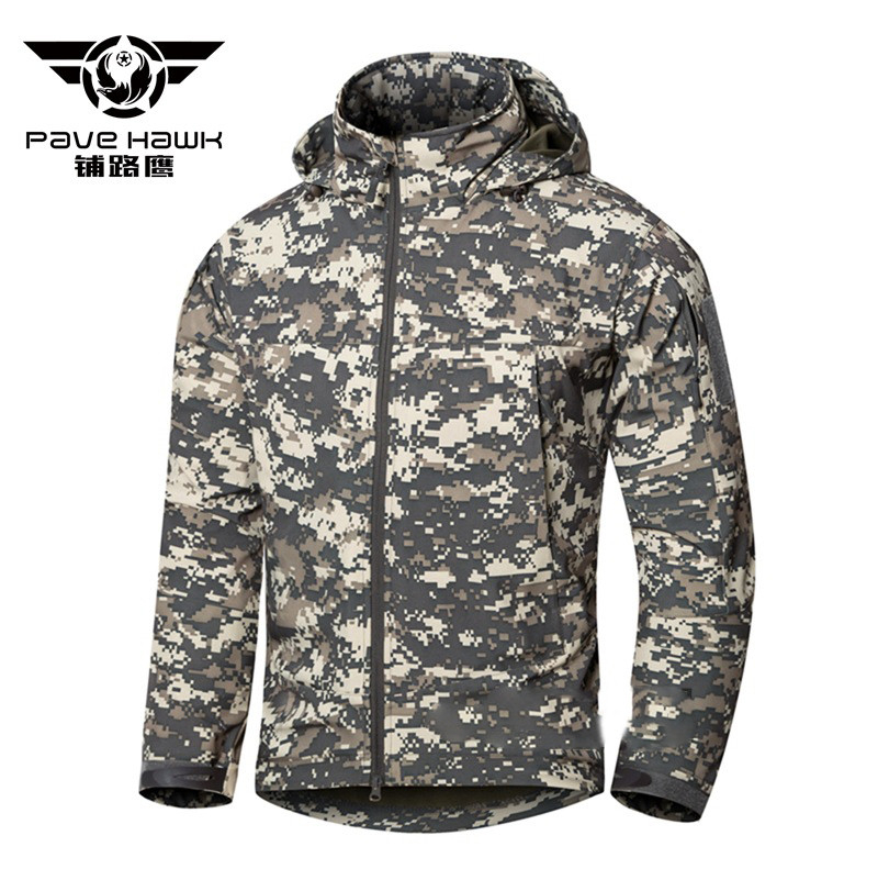 5c87d5205fa Pave Hawk Army Camouflage Coat Military Jacket Waterproof Windbreaker  Raincoat Clothes Army Tactical Men Jackets Coats