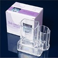 Free Shipping Clear Acrylic Cosmetic Makeup Case Holder Drawers Jewelry Storage Box Gift 4