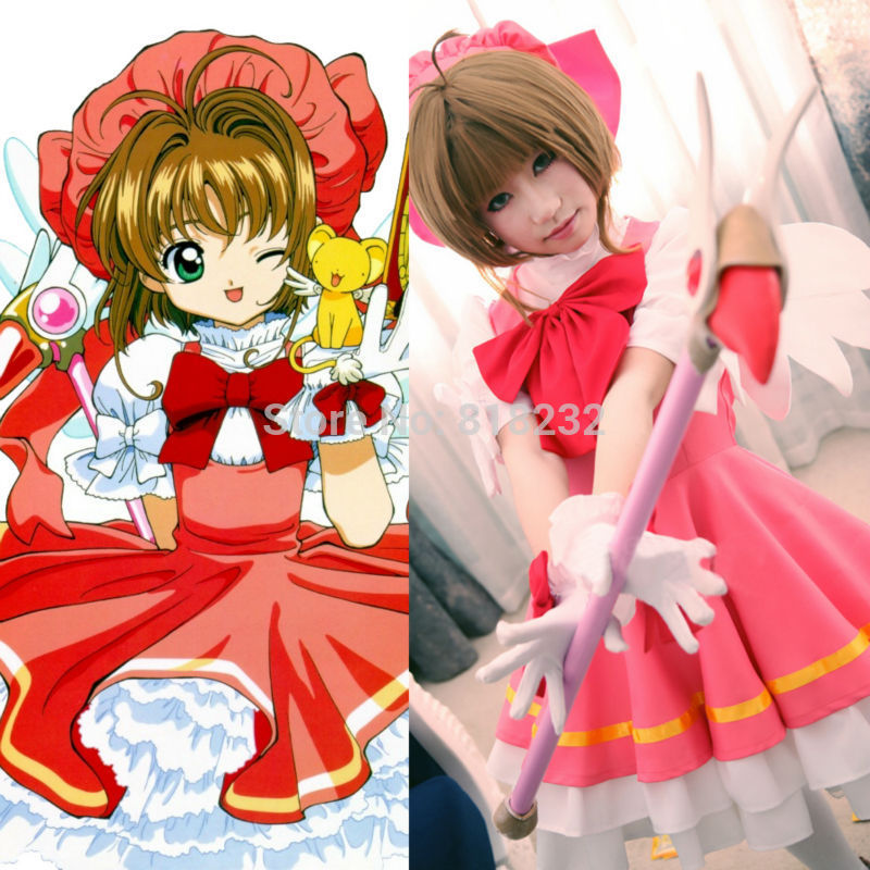 Cardcaptor Sakura Kinomoto Sakura Princess Dress Uniform Outfit Anime Cosplay Costumes anime cardcaptor sakura figma kinomoto sakura pvc action figure collectible model toy doll 27cm no box
