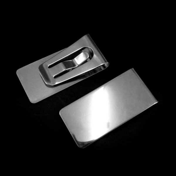 New Arrival Slim Money Wallet Clip Clamp Card Stainless Steel Credit Business Card Holder