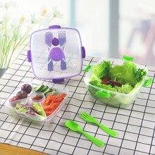 Baispo caixa de plástico para alimentos, recipiente portátil para organizar alimentos, armazenamento de cozinha, estudantes, crianças, caixa de lancheira, vegetais, frutas, salada de arroz