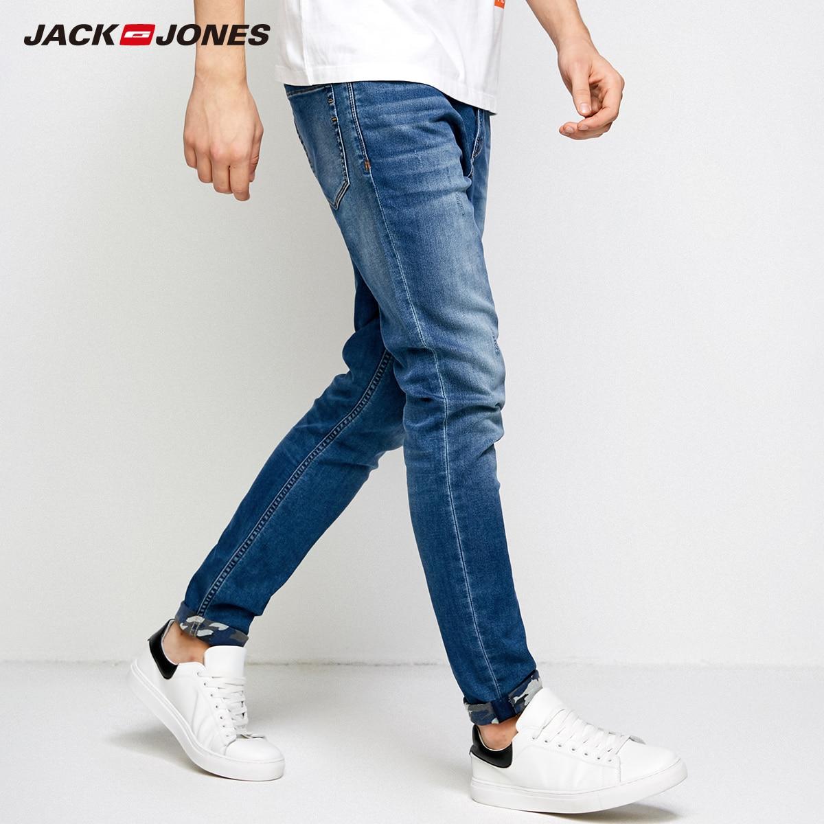 JackJones Men's Winter Rips Casual   Jeans   Casual Fashion Classical Denim   Jeans   Menswear Slim Male   Jeans   J|218332577