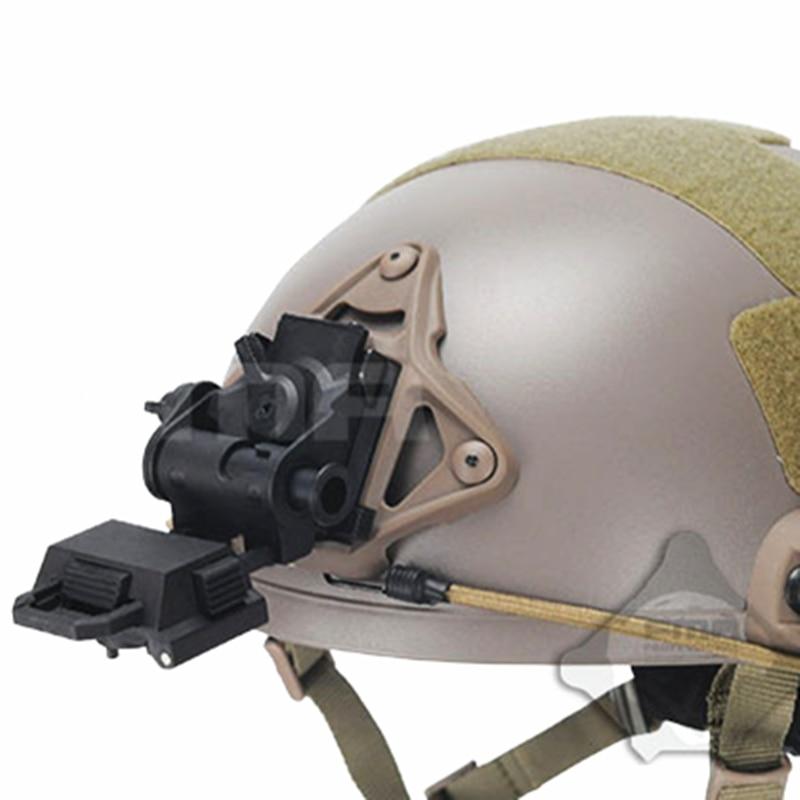 Airsoft Tactical Devgru Style NVG Plastic Mount MICH Fast PJ MH BJ Helmet Tan