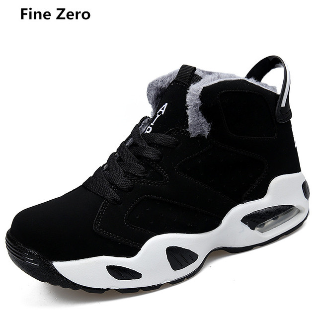 Fine Zero Unisex Winter Fur Plush Warm High Top Shoes Men Autumn Casual Ankle Boot Man Winter Super Warm Botas sapatos feminino