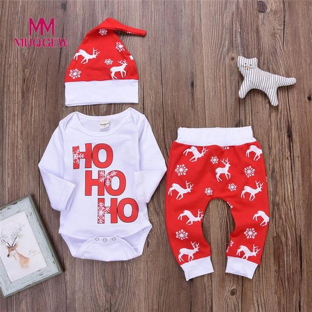 9b0b51da5fc26 US $6.24 30% OFF|winter baby clothing Romper long sleeve o neck Tops+Pants  christmas outfits Deer Outfits Cartoon Set Boy Girl Suits tops 2018-in ...