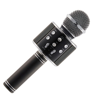 WS858 Karaoke Microphone Bluetooth Wireless Original Fashion With A Mini Fan Mobile Phone Player MIC Speaker
