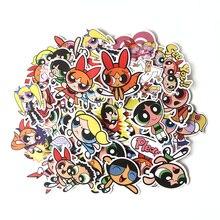 36 Pcs/set DMLSKY The Powerpuff Girls Funny album sticker decals pvc Scrapbooking for phone luggage laptop Notebook DIY M3455