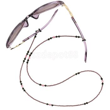 Beads Eyeglasses Lanyard Neck Cord Sunglasses Reading Glasses Eyewear Spectacles Chain Holder