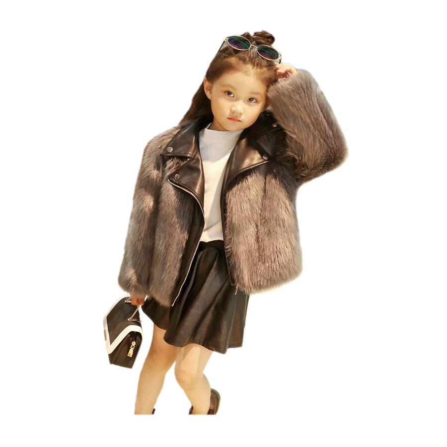 thicken children down coat solid faux fur leather overcoat for 2-12yrs kids boys girls Winter fur leather down jacket outerwear girls down jacket for boys coat fashion rainbow children outerwear winter snow wear thicken hooded coat with faux fur collar
