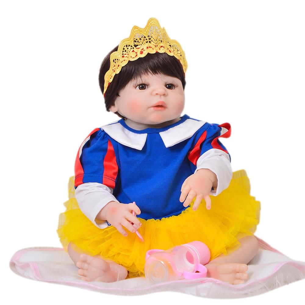 So Truly 23 Inch Silicone Reborn Baby Dolls Realistic Princess 57 cm Boneca Reborn Full Body Vinyl Handmade Kids Birthday Gift