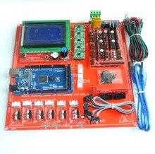 Rampas reprap 1.4 kit com mega 2560 r3 + heatbed mk2b + 12864 controlador lcd a4988 driver endstops cabos para impressora 3d