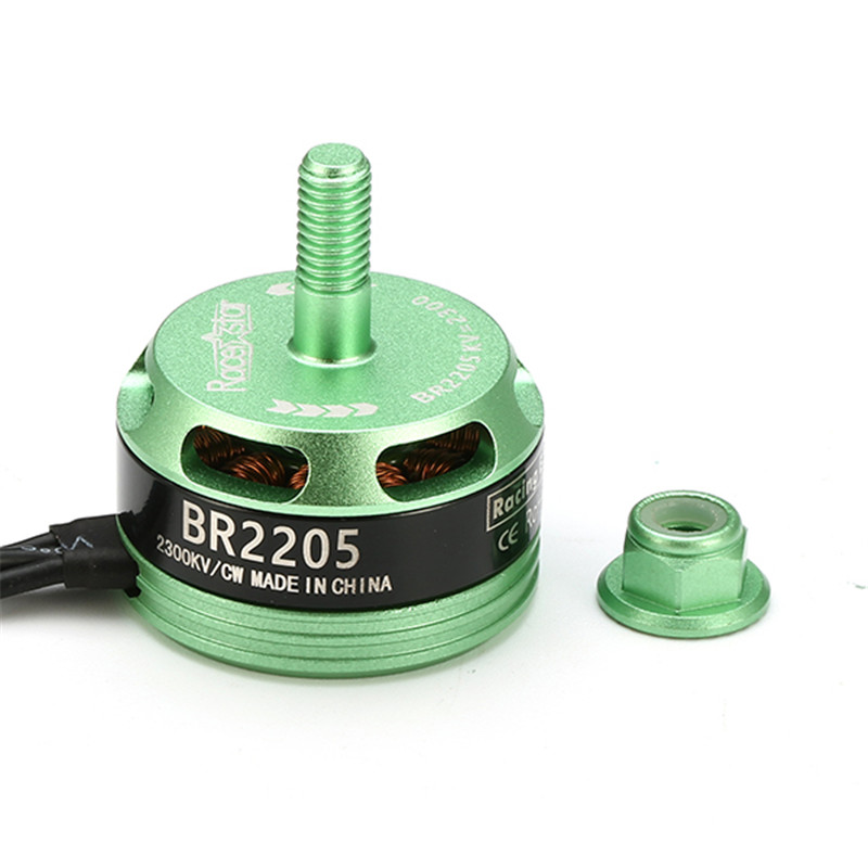 New Arrival Racerstar Racing Edition 2205 <font><b>BR2205</b></font> 2300KV 2-4S Brushless Motor CW/CCW Green For QAV250 ZMR250 260 image