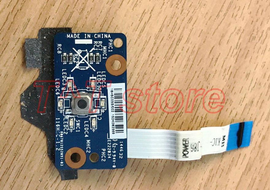 Carte de bouton d'alimentation d'origine GS60 MS-16H2 avec test de MS-16H2C de câble bonne livraison gratuite