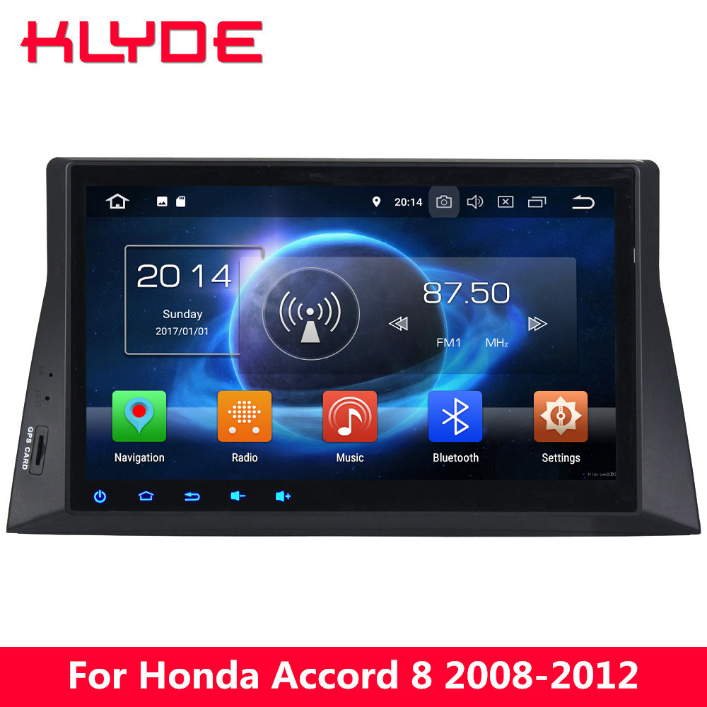 KLYDE 10.1 IPS 4G Android 8 7.1 Octa Core 4GB RAM 32GB ROM Car DVD Player Stereo GPS Navigation For Honda Accord 8th 2008-2012 android 8 0 octa core 4gb ram 32gb rom car dvd radio multimedia stereo player 1024 600 gps navigation for kia sportage 2010 2012