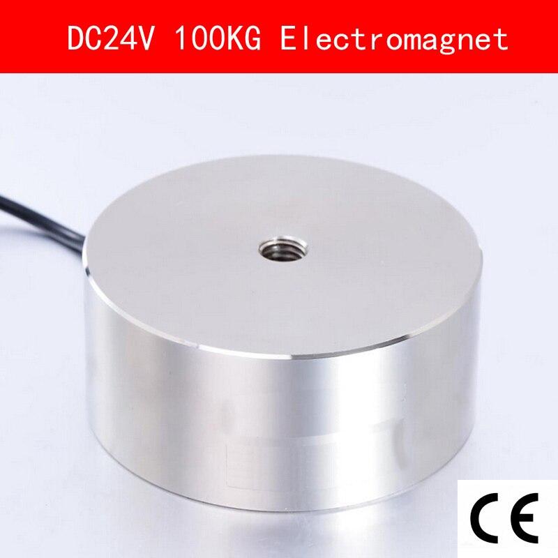 CE Сертификация IP54 DC 24 V 14 W 100 кг 1000N Электромагнит Электрический подъемный магнит Электромагнитный лифт Холдинг всасывания супер P80/38