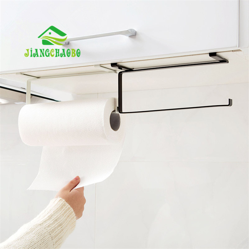 Kitchen Tissue Holder Hanging Bathroom Toilet Roll Paper Holder Towel Rack Kitchen Cabinet Door