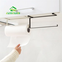 JiangChaoBo Cabinet Roll Paper Racks Kitchen Paper Racks Creative Plastic Wraps Shelf Paper Towel Rack Shelves