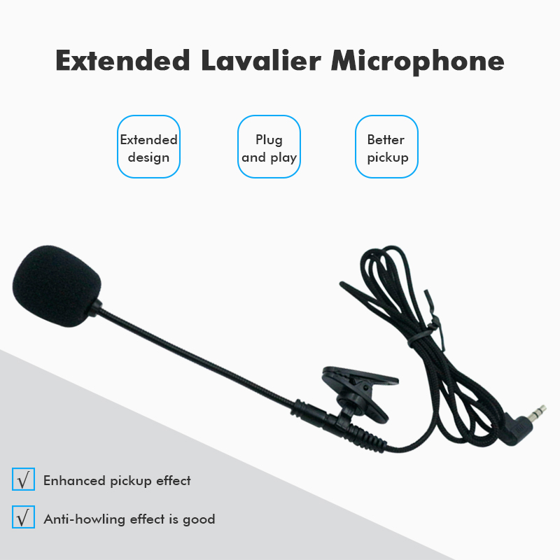 Mini Microphones Lapel Lavalier Microphone Handheld 3.5mm MIC For Computer Lavalier Microphone Clip FM Wireless For Choose