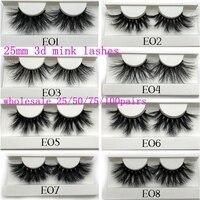 Mikiwi 25mm Mink False Eyelashes Wholesale 25mm 3D Mink Lashes big white tray Label Makeup Dramatic Long Mink Lashes
