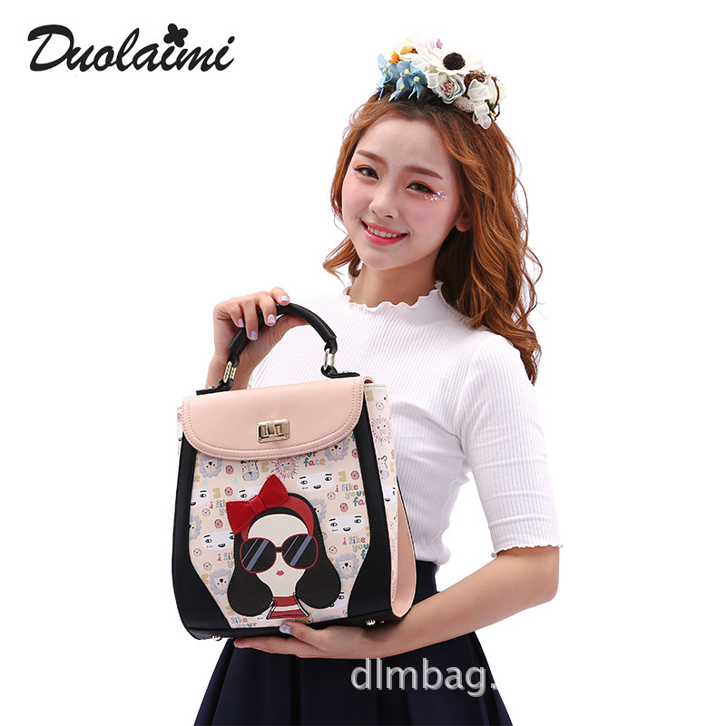 2018 The lovely student backpacks fashion knapsack cartoon printed backpack. the student forum