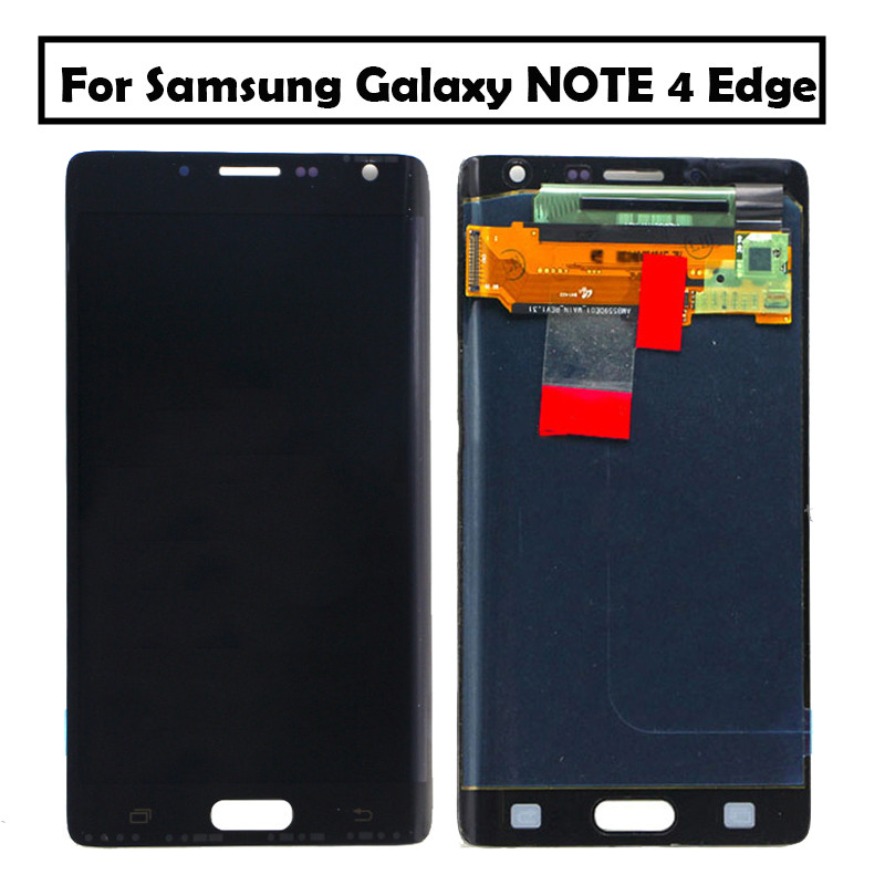 For Samsung Galaxy NOTE 4 Edge N915 LCD Display Touch Screen Digitizer Assembly with frame For