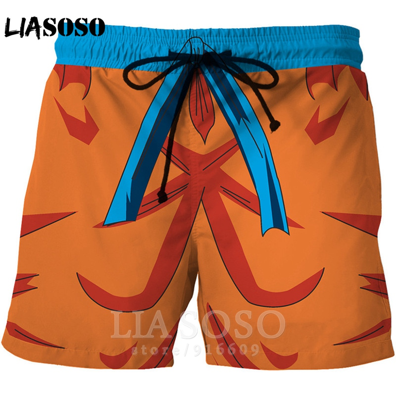 Fashion Dragon Ball Z Casual Anime Men Women Kids Board Swimsuit Goku Hip Hop Shirt Sports Harajuku Beach Sweatpants Shorts A170